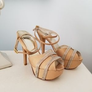 Stuart Weitzman Sparkle and Nude Heels